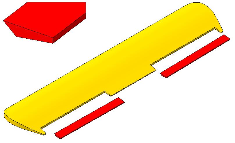 1. Вырезать элероны